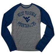 West Virginia Mountaineers Navy adidas Originals Gym Class Tri-Blend Long Sleeve Tee