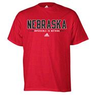 Nebraska Cornhuskers Red adidas Half Moon T-Shirt