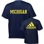 Michigan Wolverines Navy adidas Dot Mark T-Shirt