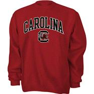 South Carolina Gamecocks Cardinal Tackle Twill Crewneck Sweatshirt