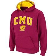 Central Michigan Chippewas Arched Tackle Twill Hooded Sweatshirt