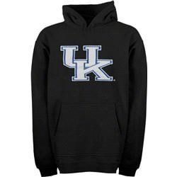 Kentucky Wildcats Youth Black Tackle Twill Hooded Sweatshirt