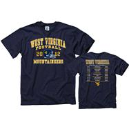 West Virginia Mountaineers 2012 Football Season Schedule T-Shirt