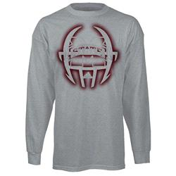Mississippi State Bulldogs adidas 2013 Spring Game Football Sideline Long Sleeve T-Shirt - Grey