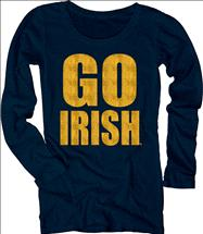 Notre Dame Fighting Irish Women's Flicker Moondust Scoopneck Long Sleeve T-Shirt