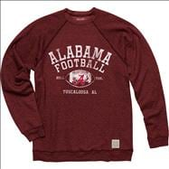 Alabama Crimson Tide Original Retro Brand Football Super Soft Crewneck Sweatshirt
