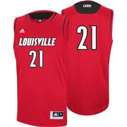 Louisville Cardinals adidas #21 Replica Basketball Jersey - Red