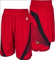 Louisville Cardinals adidas Red Replica Baskeball Shorts