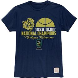 Michigan Wolverines Retro Brand Vintage 1989 College Basketball National Champions T-Shirt