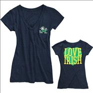 Notre Dame Fighting Irish Women's Love Irish V-Neck T-Shirt