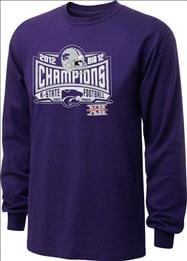 Kansas State Wildcats 2012 Big 12 Conference Football Champions Lobbed Long Sleeve T-Shirt