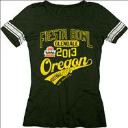 Oregon Ducks Women's 2013 Fiesta Bowl Bound Jersey T-Shirt