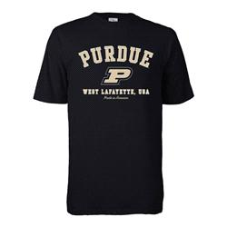 Purdue Boilermakers Hometown Made in America T-Shirt - Black