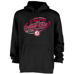 Alabama Crimson Tide 2012 BCS National Champions Back-to-Back Richer Hooded Sweatshirt - Black
