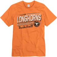 Texas Longhorns Orange Escalate Basketball Ring Spun T-Shirt