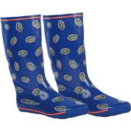 Florida Gators Women's Royal All-Over Print Rubber Rain Boots
