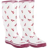 Virginia Tech Hokies Women's All-Over Print Rubber Rain Boots