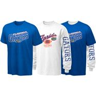 Florida Gators Youth Long Sleeve/Short Sleeve 3-in-1 T-Shirt Combo Pack
