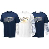 West Virginia Mountaineers Youth Long Sleeve/Short Sleeve 3-in-1 T-Shirt Combo Pack
