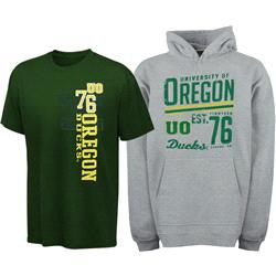 Oregon Ducks Youth Hooded Sweatshirt/T-Shirt Combo Pack