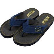 Michigan Wolverines Team Color Flip Flop