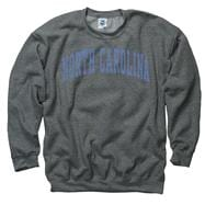 North Carolina Tar Heels Dark Heather Arch Crewneck Sweatshirt