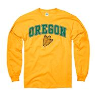 Oregon Ducks Gold Perennial II Long Sleeve T-Shirt