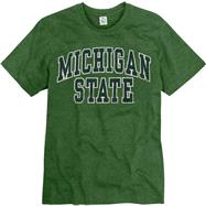 Michigan State Spartans Heather Green Tradition Ring Spun T-Shirt