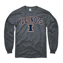 Illinois Fighting Illini Dark Heather Perennial II Long Sleeve T-Shirt