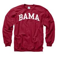 Alabama Crimson Tide Crimson Bama Arch Crewneck Sweatshirt