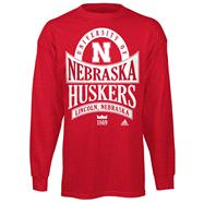 Nebraska Cornhuskers Red adidas Mountain Top Long Sleeve T-Shirt