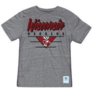 Wisconsin Badgers Heather Grey adidas Originals Blazing Tri-Blend T-Shirt
