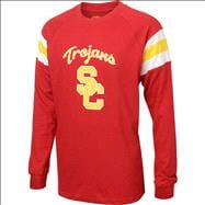 USC Trojans Cardinal Forward Pass Long Sleeve T-Shirts
