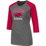 Arkansas Razorbacks Cardinal Women's Nimbus 3/4 Sleeve T-Shirt