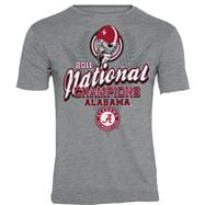 Alabama Crimson Tide Grey 2011 BCS Football National Champions Crest T-Shirt