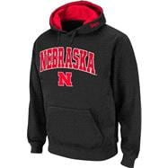 Nebraska Cornhuskers Black Twill Tailgate Hooded Sweatshirt