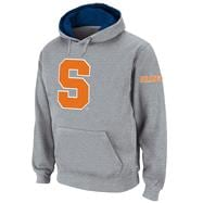 Syracuse Orange Heather Grey Twill Tailgate Hooded Sweatshirt