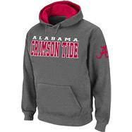 Alabama Crimson Tide Charcoal Twill Victory Lap Hooded Sweatshirt
