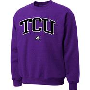 TCU Horned Frogs Purple Twill Arch Crewneck Sweatshirt
