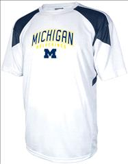 Michigan Wolverines Navy Flea Flicker Performance T-Shirt