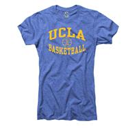UCLA Bruins Women's Heather Royal Reversal Basketball Ring Spun T-Shirt