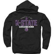 Kansas State Wildcats Black Property of Basketball Hooded Sweatshirt