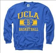 UCLA Bruins Royal Wide Stripe Basketball Crewneck Sweatshirt