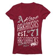 Arkansas Razorbacks Women's Cardinal Landslide Ring Spun V-Neck T-Shirt