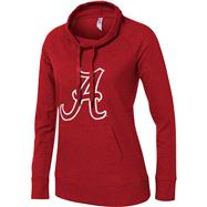 Alabama Crimson Tide Women's Cardinal French Terry Funnel Neck Tunic