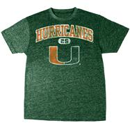 Miami Hurricanes Green Heather Arch T-Shirt