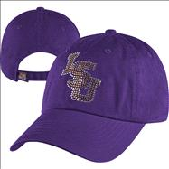 LSU Tigers Women's Butterfly Bling Adjustable Hat