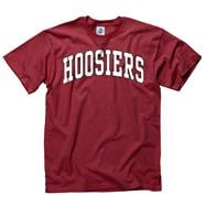 Indiana Hoosiers Cardinal Bold Arch Mascot T-Shirt