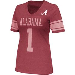 Alabama Crimson Tide Crimson Women's Rebel V-Neck T-Shirt