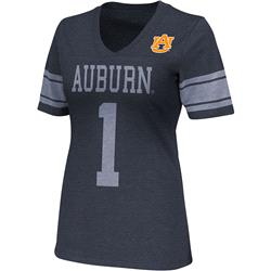 Auburn Tigers Navy Women's Rebel V-Neck T-Shirt